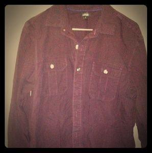 Apt9 burgundy mens button up shirt